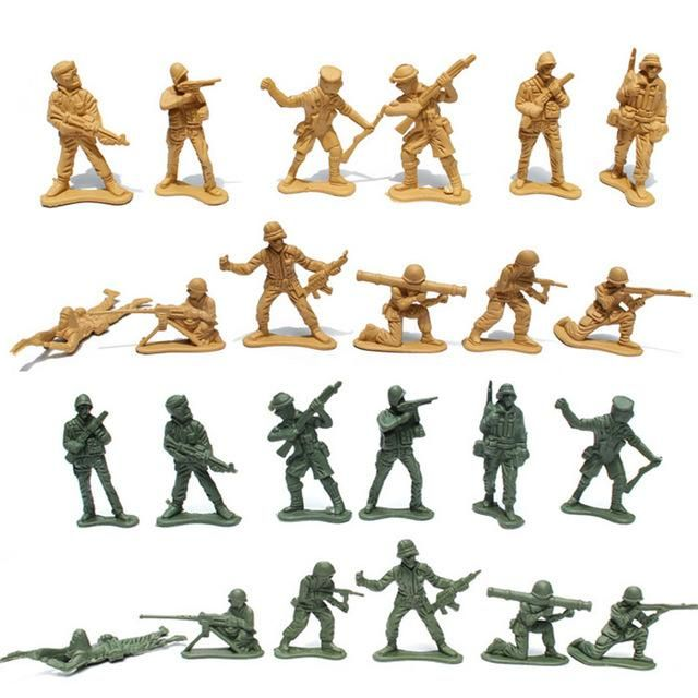Boys favorite!!! 30Pcs/Lot 5cm Plastic Soldier Model World War II Soldier military Toys birthday gifts