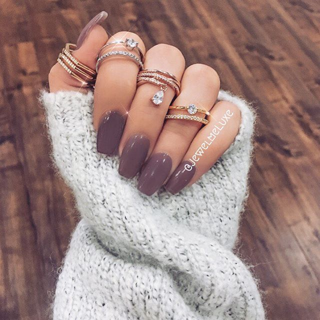 Amazed Color Of Nails By Vanitymakeup And Rings From Jewelmeluxe Superb In 2018 Pinterest Acrylic Nail Designs