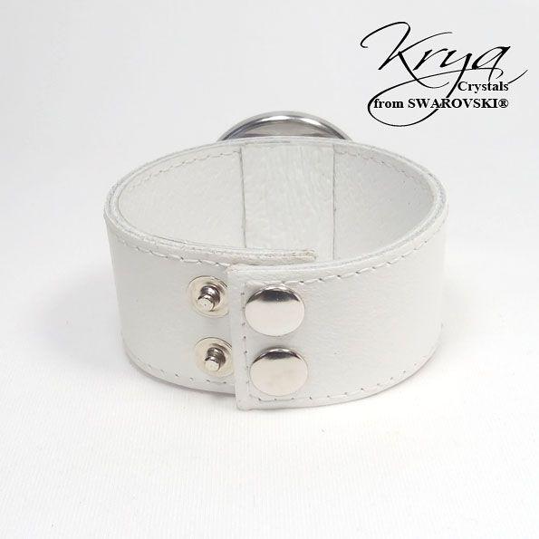 Real Leather Bracelet with Swarovski