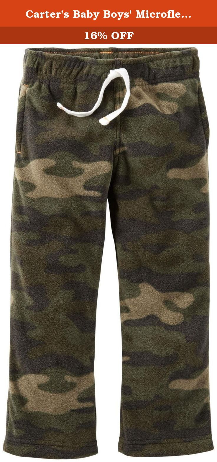 Carter's Baby Boys' Microfleece Pants (Baby) - Camo - 24 Months. Carter's Microfleece Pants (Baby) - Camo Carter's is the leading brand of children's clothing, gifts and accessories in America, selling more than 10 products for every child born in the U.S. Their designs are based on a heritage of quality and innovation that has earned them the trust of generations of families.