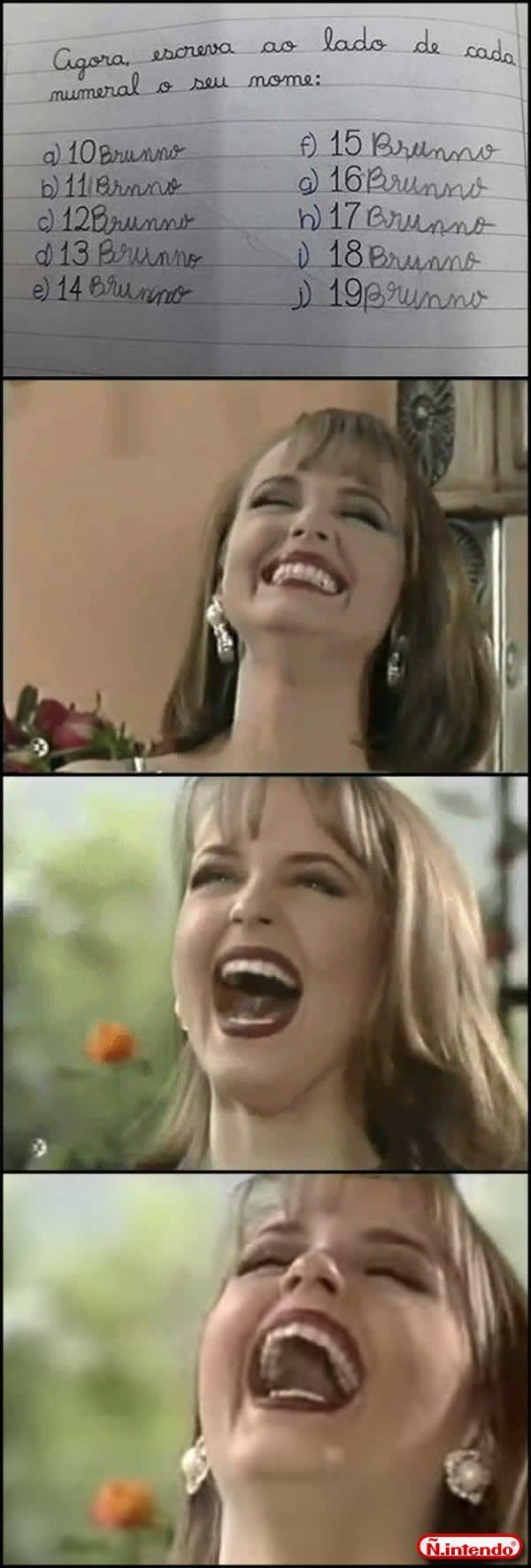 O (a) professor(a) eu rio deles e não do aluno. Como dizia Paola: A impotência me faz cruel!   MOSCA MORTA!! Hahahah Hahahah