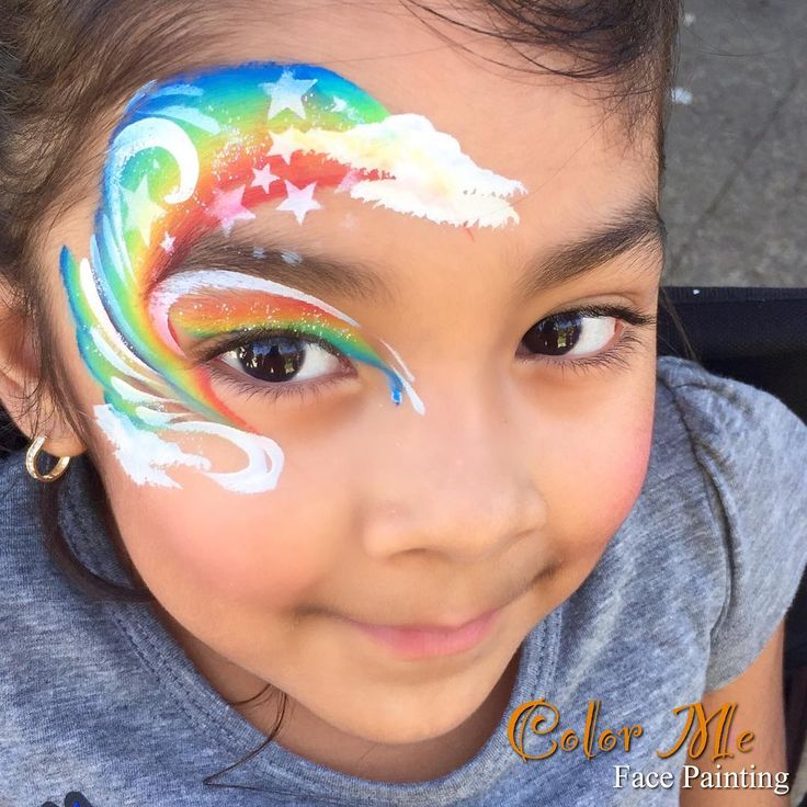 Rainbow Face Painting - Color Me Face Painting - Vanessa Mendoza