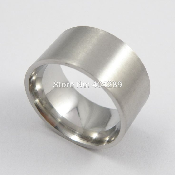 12mm Stainless Steel Super Wide Flat Ring Thumb Matt Rings for Men Women Punk Accessories