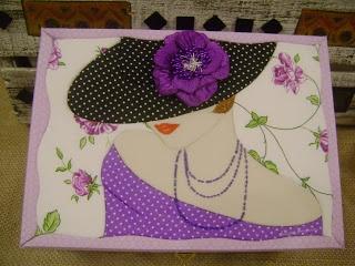 Mosaicos Eliane Amorim: Caixa para maquiagens - patchwork embutido