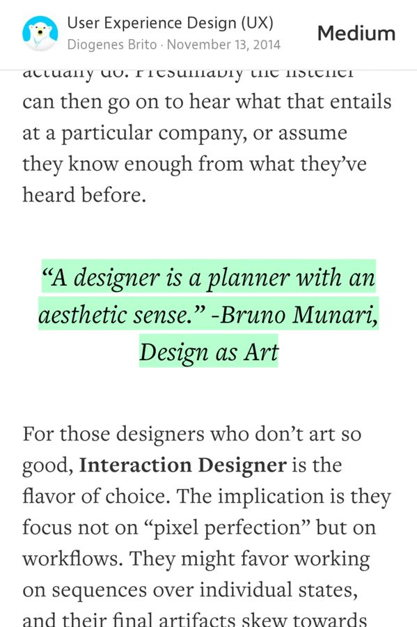"""A designer is a planner with an aesthetic sense."" — Bruno Munari"