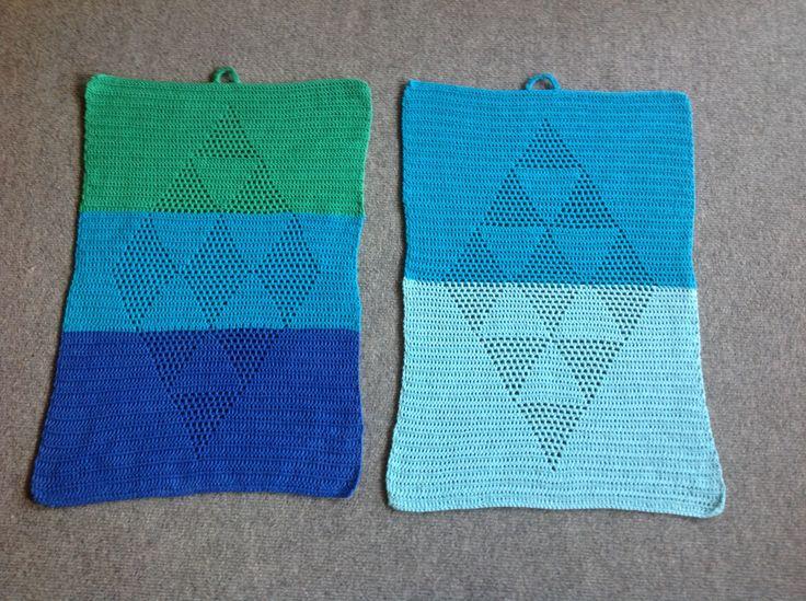 Færdig med Harlekin håndklæder.