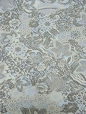 New Arrival! Black/White/Pale Blue Floral Moroccan Tile Dotted Netting 55W - now in the collection!