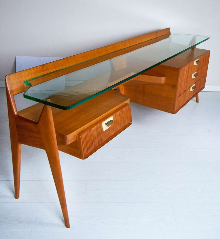Stilysh Italian 1950s Cherry Chest and Desk by Maspero Galdino Cantù Milano | From a unique collection of antique and modern desks at https://www.1stdibs.com/furniture/storage-case-pieces/desks/