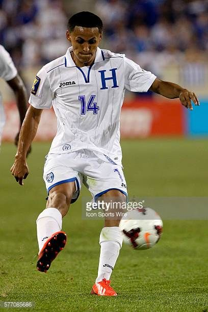 Honduras midfielder Andy Najar during the game between Haiti and Honduras in the 2013 CONCACAF Gold Cup being played at Red Bull Arena in Harrison NJ