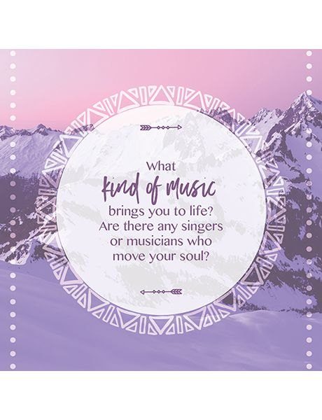 What kind of music brings you to life?  Soul to Soul conversation cards.