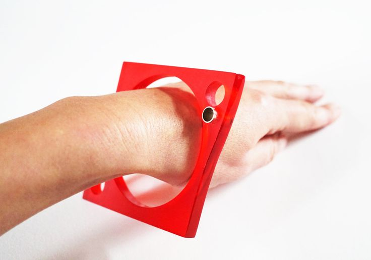 E. Salwierz Design-Plexiglass Sterling Silver Bracelet no. 1192KA by APPUSSTUDIOJEWELLERY on Etsy