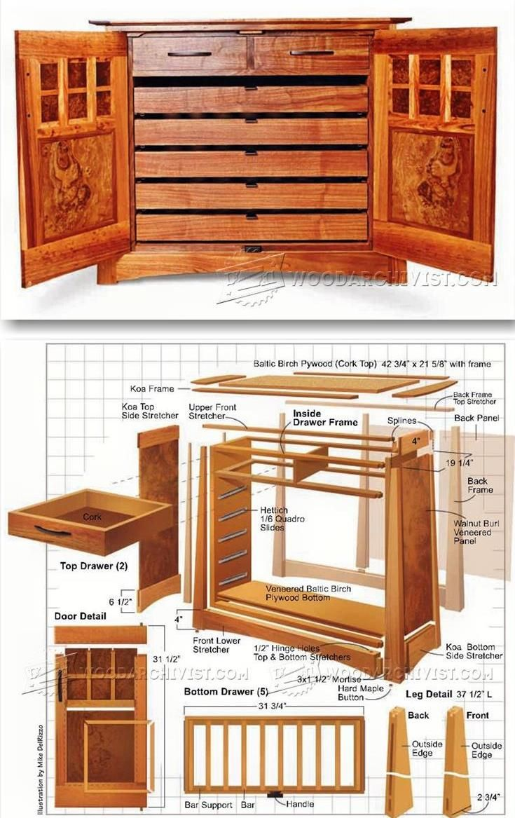 Wine Cabinet Plans - Furniture Plans and Projects  | WoodArchivist.com