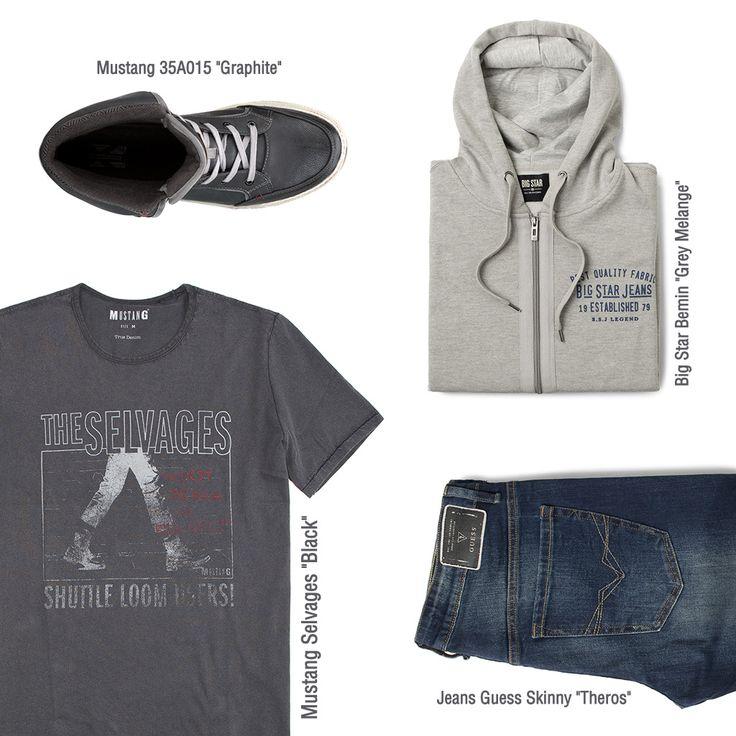 #branpl #branpl #newcollection #autumnwinter14 #fallwinter14 #mencollection #men #tshirt #mustang #shoes #jeans #guess #bigstar #sweatshirt #online #onlinestore #store #denim #black #grey #graphit
