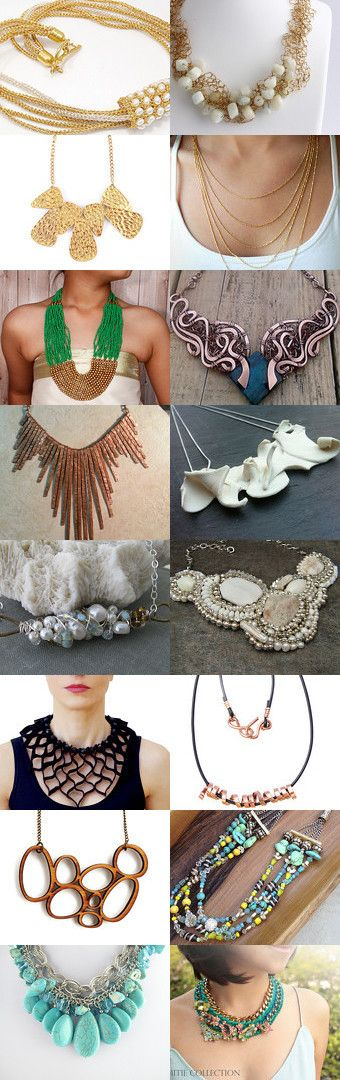 Glam out your outfit-STATEMENT NECKLACES by Nataliya Popkov on Etsy--Pinned with TreasuryPin.com