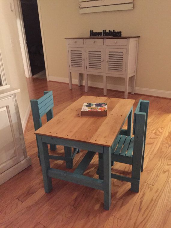 You can order this awesome Childrens activity table finished or unfinished. It is handcrafted from hardwood, the table top is reclaimed white