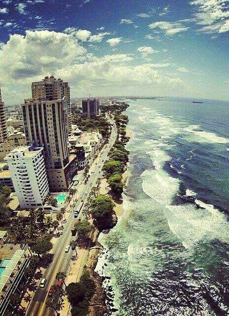 El Malecón in Santo Domingo, Dominican Republic