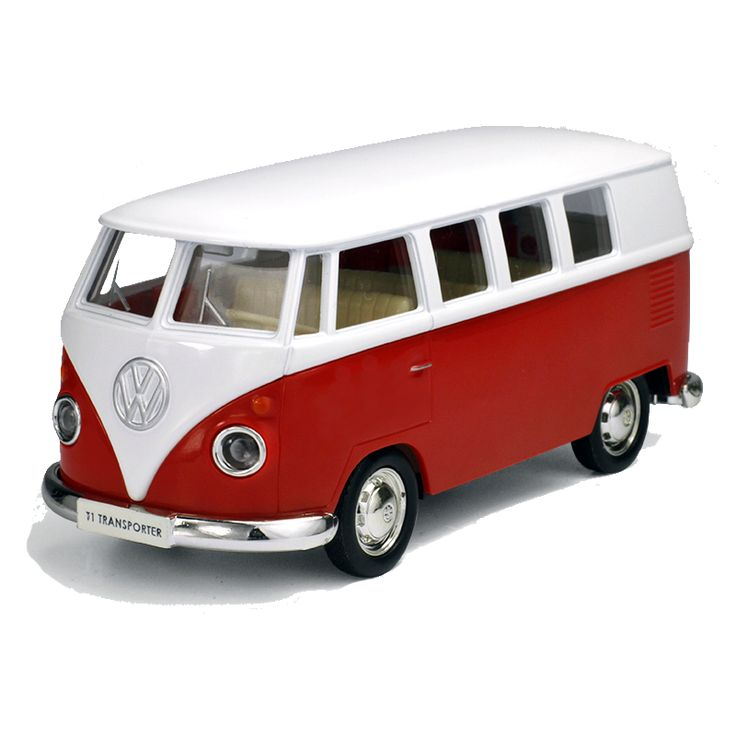 Exquisite Retro Volkswagen Van For Kids and Grown-Ups In Green, Red and Yellow