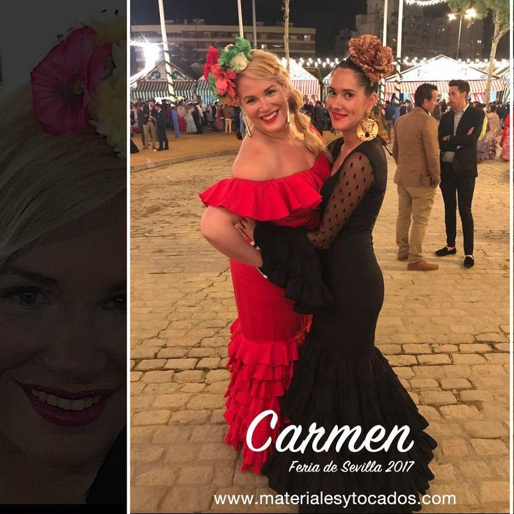 Carmen comparte con todos nosotr@s su fin de Feria de Sevilla 2017, con otra espectacular media corona de flores flamencas realizada por Materiales y Tocados en especial para ella. Desde Materiales y Tocados te damos las gracias.  #corona #mediacorona #flores #floresflamencas #handmade #trajedeflamenca #elegante #guapa #modaflamenca #luxury #colores #modeloexclusivo #picoftheday #ElRocio #primavera #materialesparahacertocados #Sevilla #Tomares
