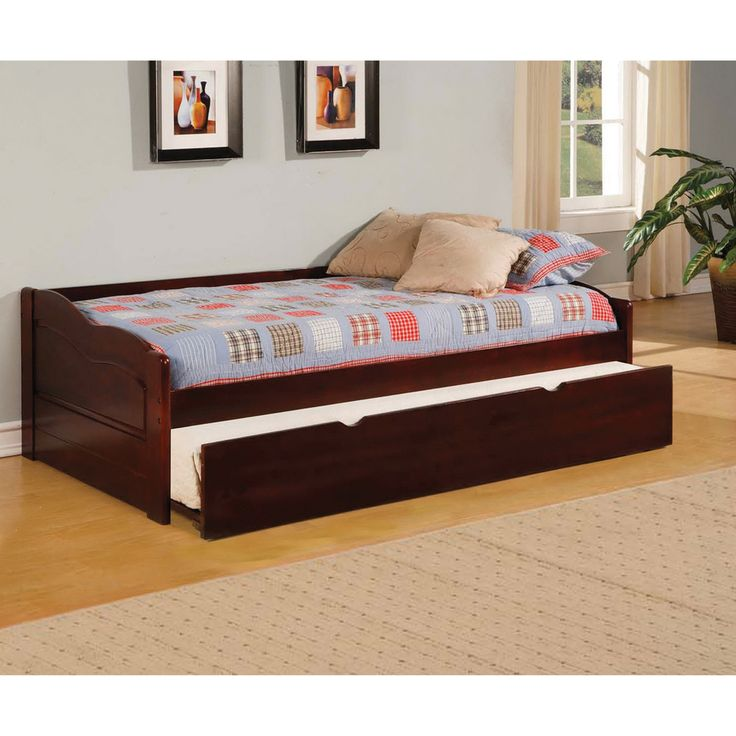 Furniture of america bowiea dark cherry daybed with twin trundle shopping the Best deal on twin mattress