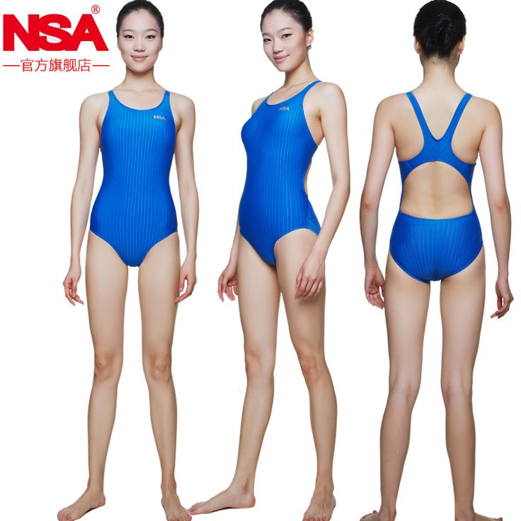 NSAProfessional One Piece Swimwear Women Swimsuit Sports Racing Competition Lower Resistance Swimsuit