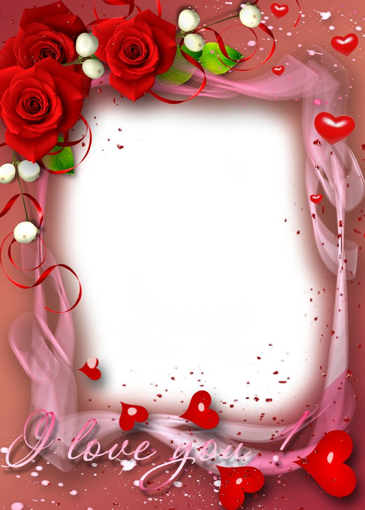 Red-Roses-and-Hearts-Valentine-Picture-Frame.png (914×1280)