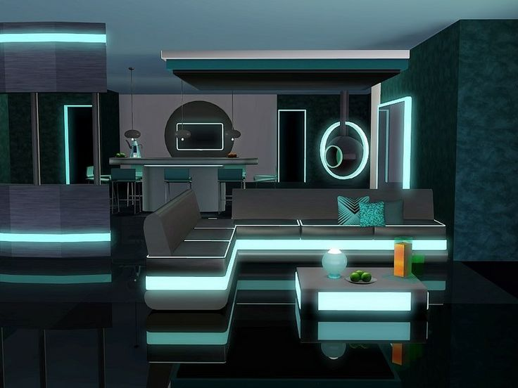 10 best futuristic build buy objects images on pinterest for Salle a manger sims 4