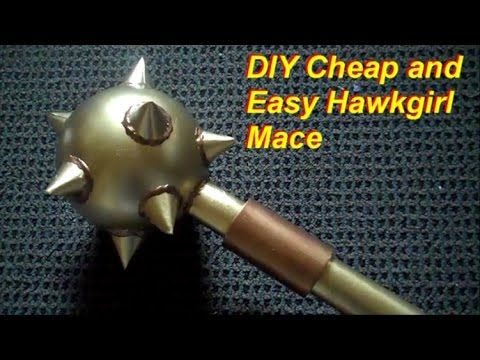 DIY Cheap and Easy Hawkgirl Mace - YouTube