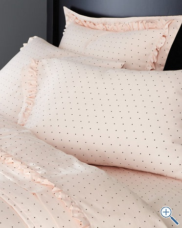 A little pricey for me ($156 for a whole set) but these are fun, girly sheets.