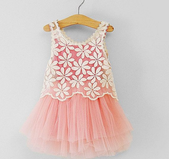 BIG SALE 2,3,4,5,6,7years 2pcs toddler girl dress lace outer pink tutu inside