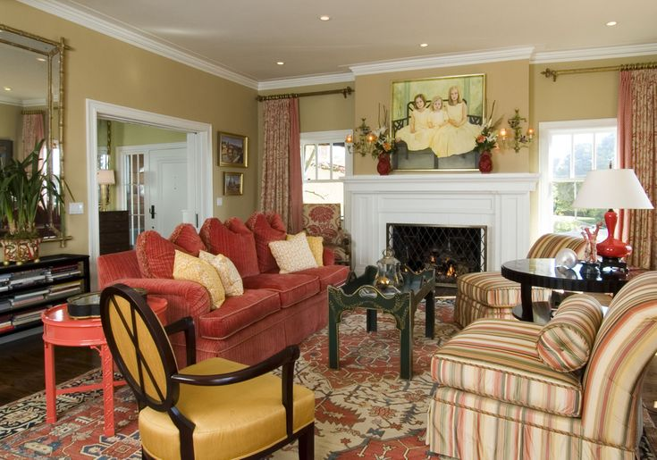 63 best paint colors images on pinterest favorite paint - Traditional red living room ideas ...