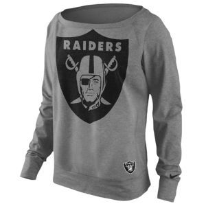 Nike NFL Lightweight Dri-Fit Epic Crew - Women's - Oakland Raiders - Dark Grey Heather