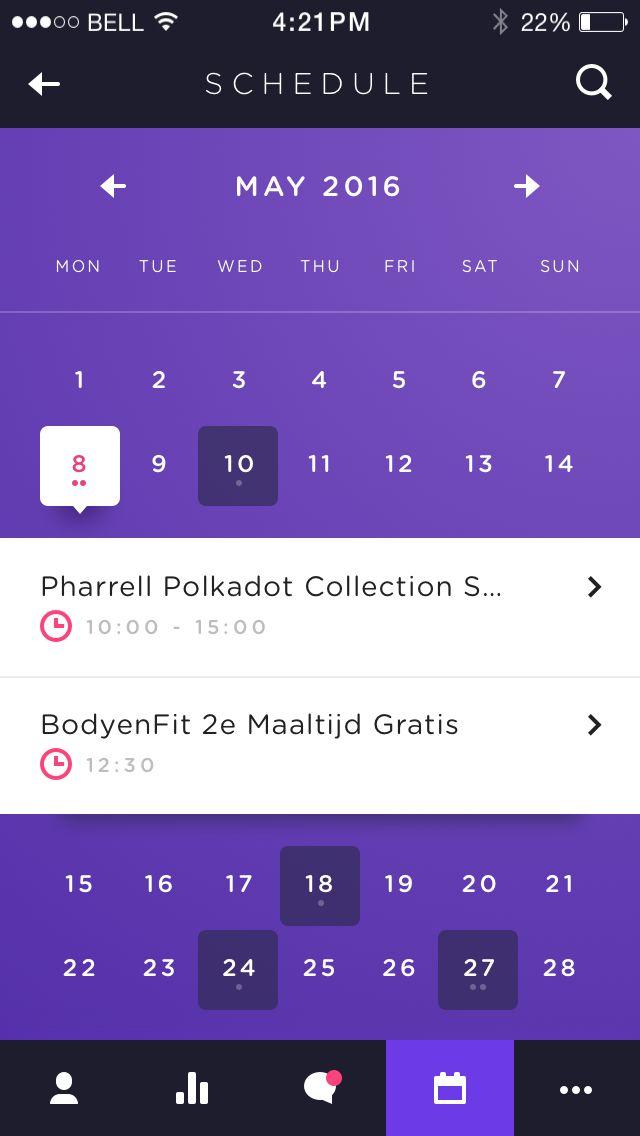 Calendar tap date                                                                                                                                                                                 More