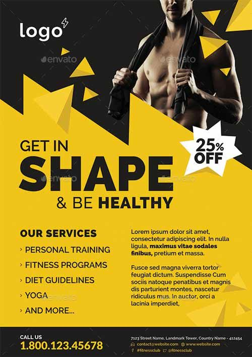 Fitness & Gym Flyer Template…