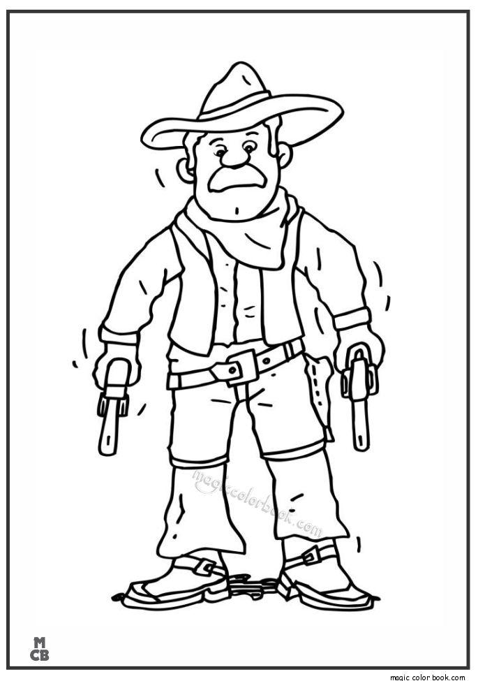 28 best Cowboy Coloring pages images on Pinterest | Vaqueros, Búfalo ...