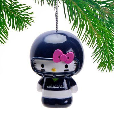Seattle Seahawks Hello Kitty Ornament