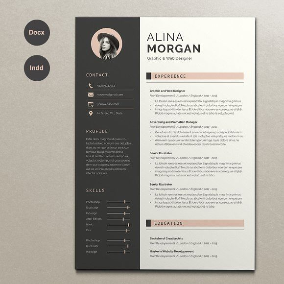 Resume Alina by Estartshop on @Graphicsauthor