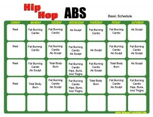 Hip Hop Abs Basic Schedule  (got the DVDs, but not the schedule.... now I have both!)