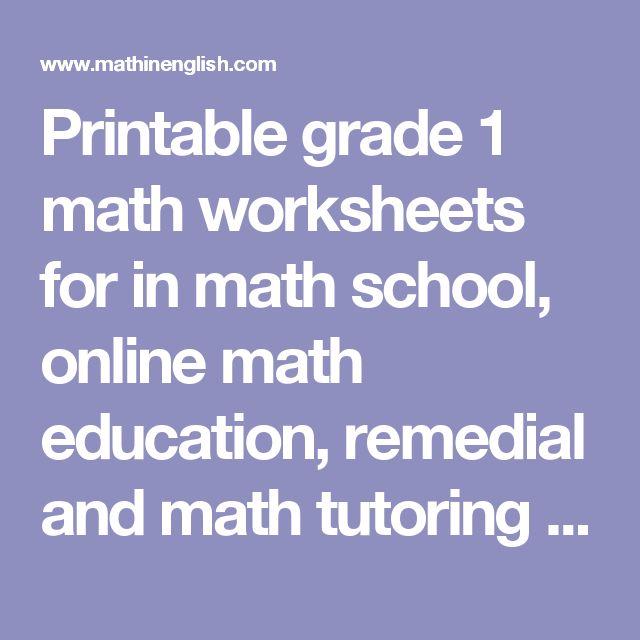 17 best ideas about grade 1 math worksheets on pinterest. Black Bedroom Furniture Sets. Home Design Ideas