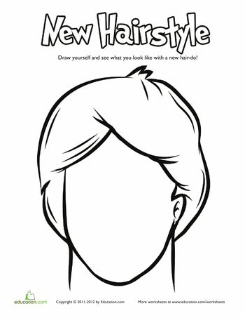 boy hair coloring pages - photo#16