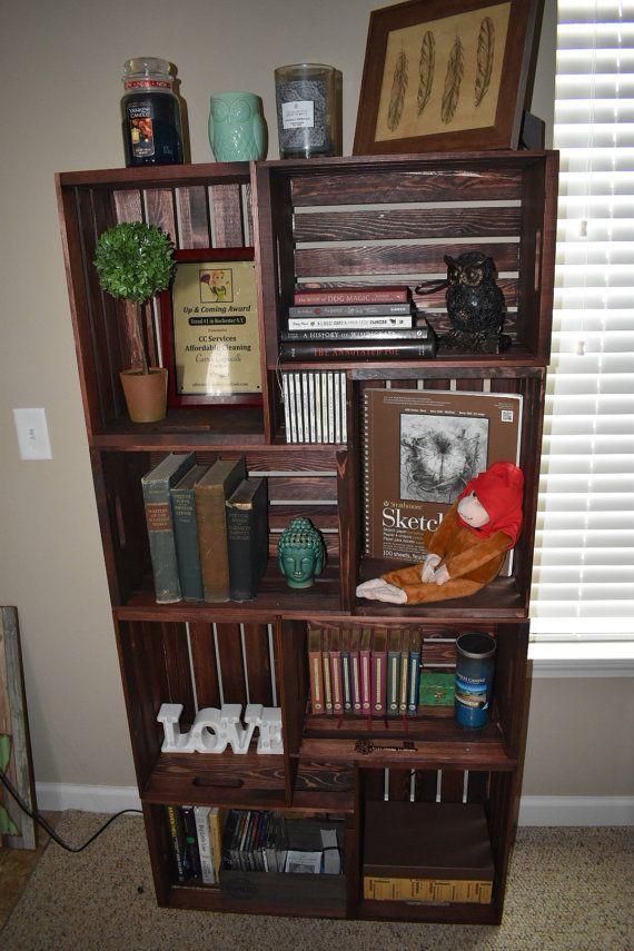 1000 ideas about crate bookshelf on pinterest crates. Black Bedroom Furniture Sets. Home Design Ideas
