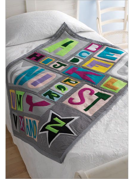 Alphabet Templates For Quilting : 17 Best images about Baby Quilts on Pinterest Stitching, Semi trucks and Quilt