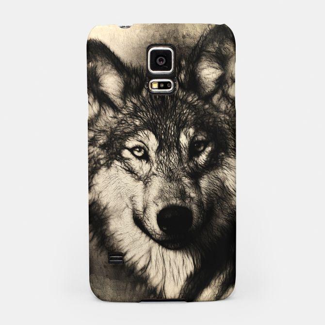 Gray Wolf Samsung Case