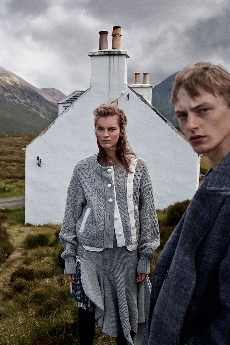 Elle - Paradise Isle - Scotish Knits for Fall 2014. Photographed by Laurie Bartley and styled by Samira Nasr.