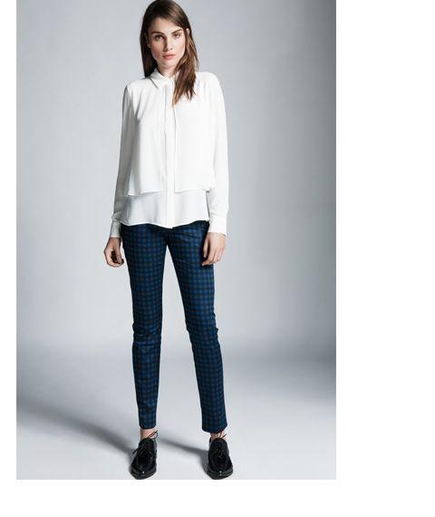 Check Print Slim Pant (and shirt) By CUE
