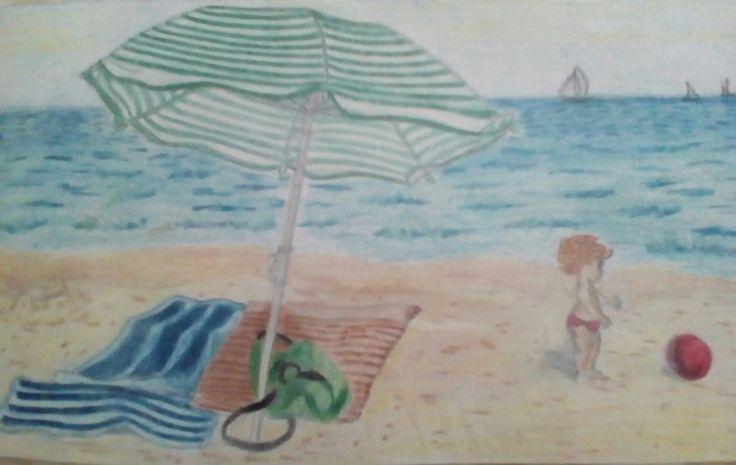 Na pláži,A4- progreso