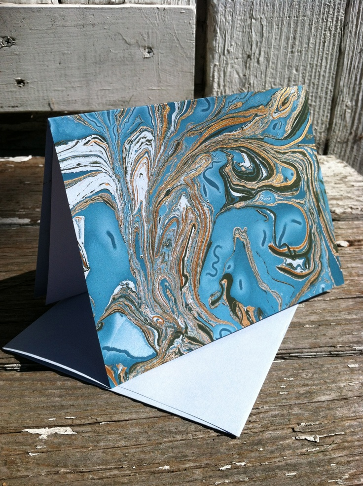 $5.50 - Hand-marbled note cards. I love old-world artistry.  :)