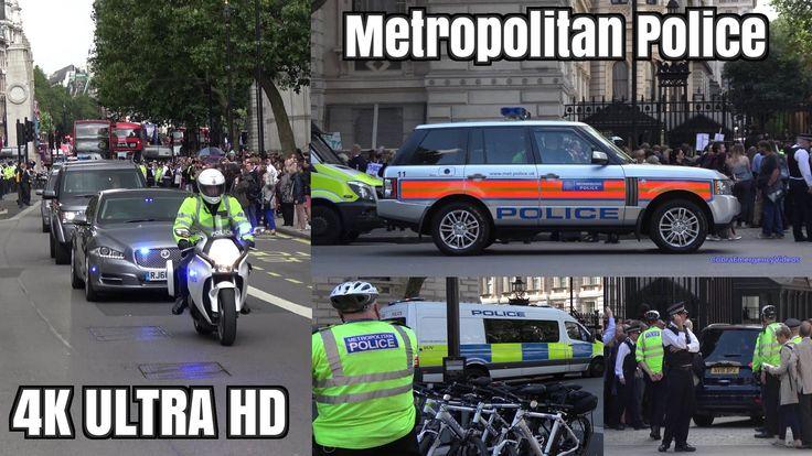 David Cameron resign - Police, crowds & media activity