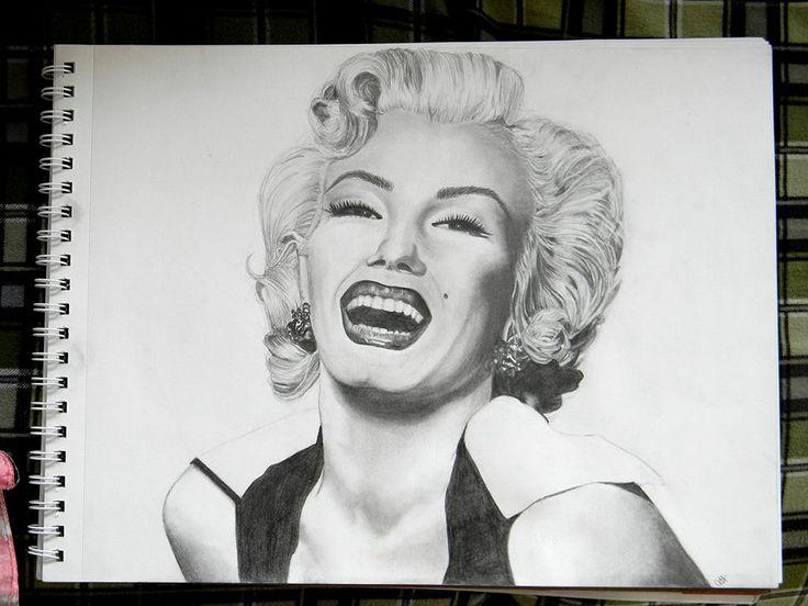 Marilyn Monroe Drawing done by Courtney Haeick #Marilynmonroe #art #pencil