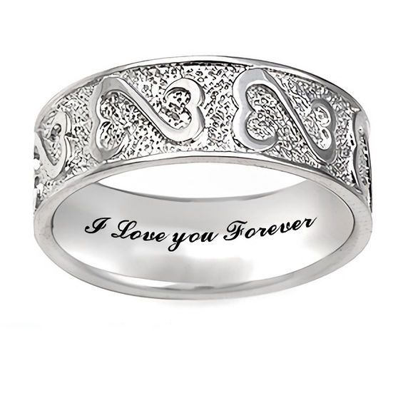 Open Hearts Family By Jane Seymour Wedding Band 1 Line Shop