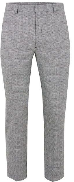 Topman Black And White Check Skinny Cropped Pants